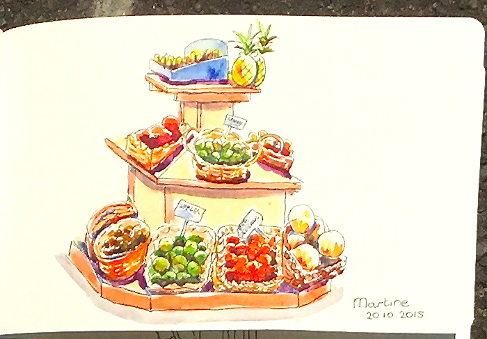Beautiful sketches of the Co-Op by local art students - Manly Food Co-Operative