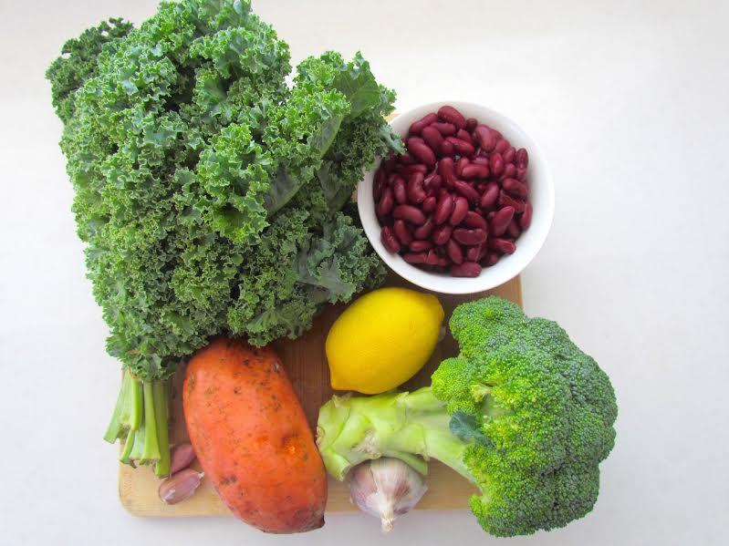 Sweetpotatokalestirfryingredients