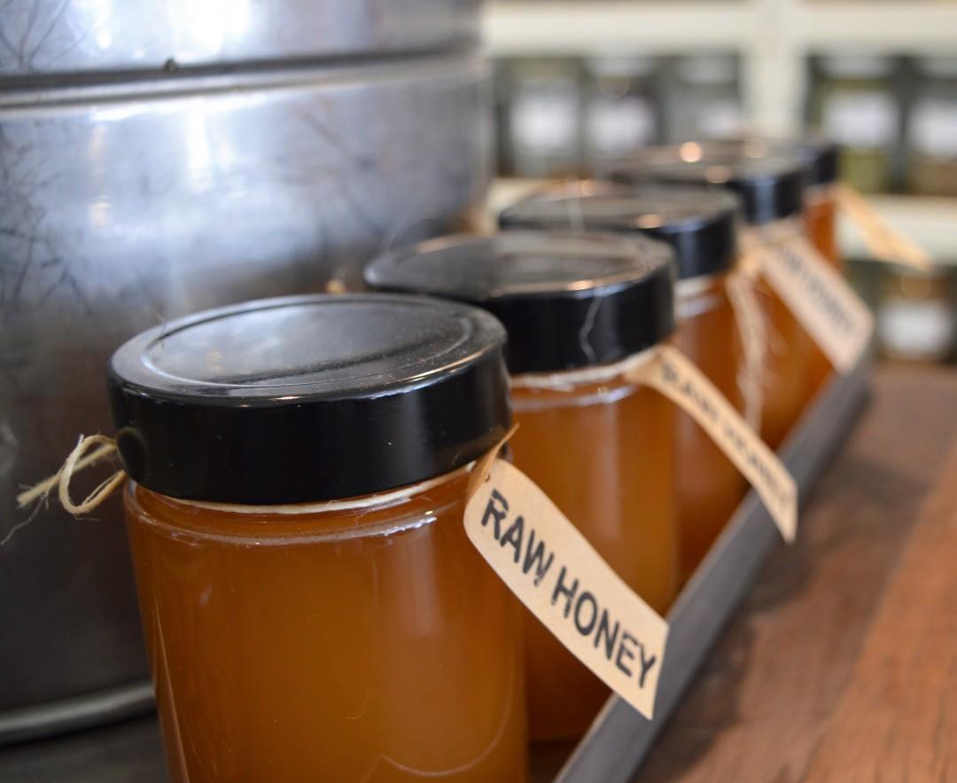 Honey, honey jars, local honey, raw honey