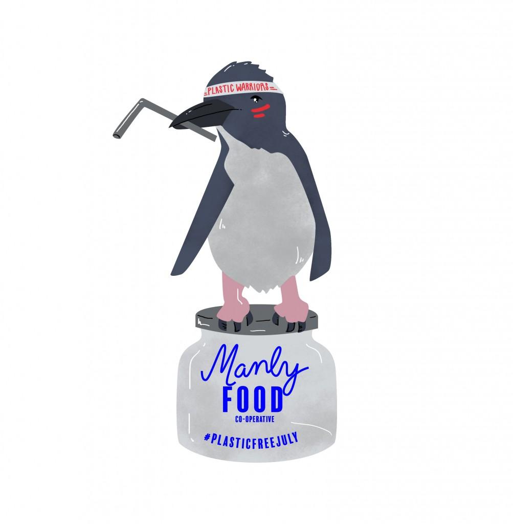 Plastic free july mascot