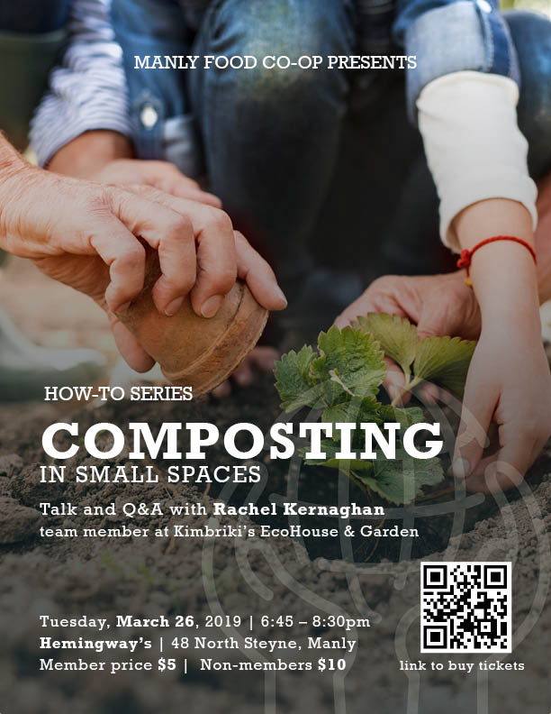 Composting in Small Spaces: Talk – We are SOLD OUT :)