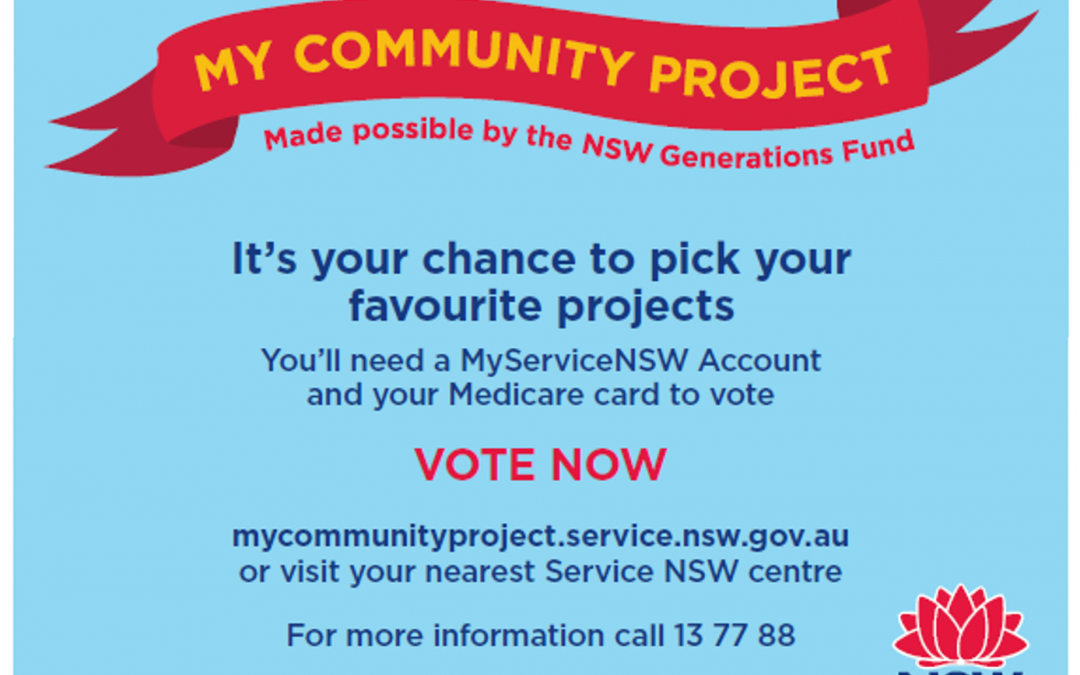 Vote for Us! My Community Project Grants