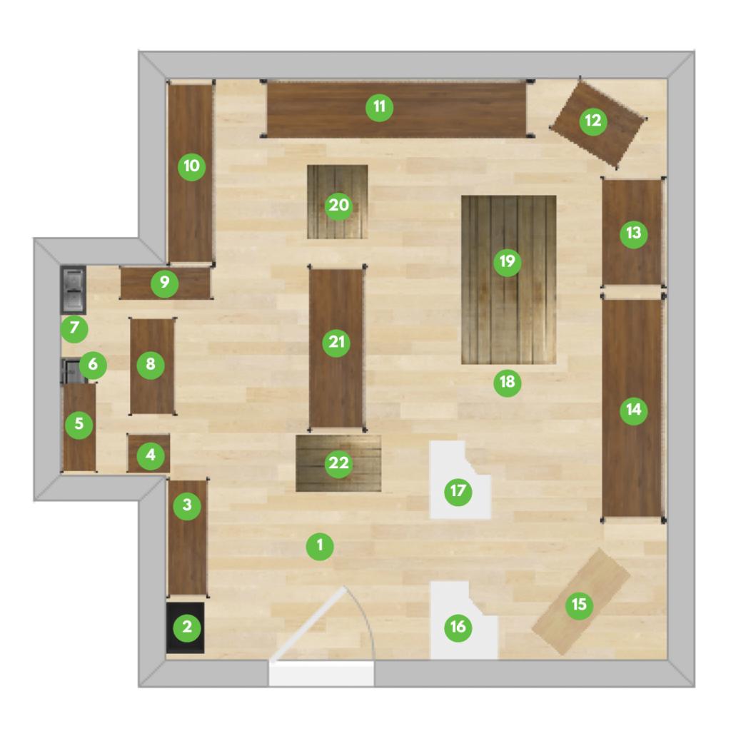 Co-op floor plan