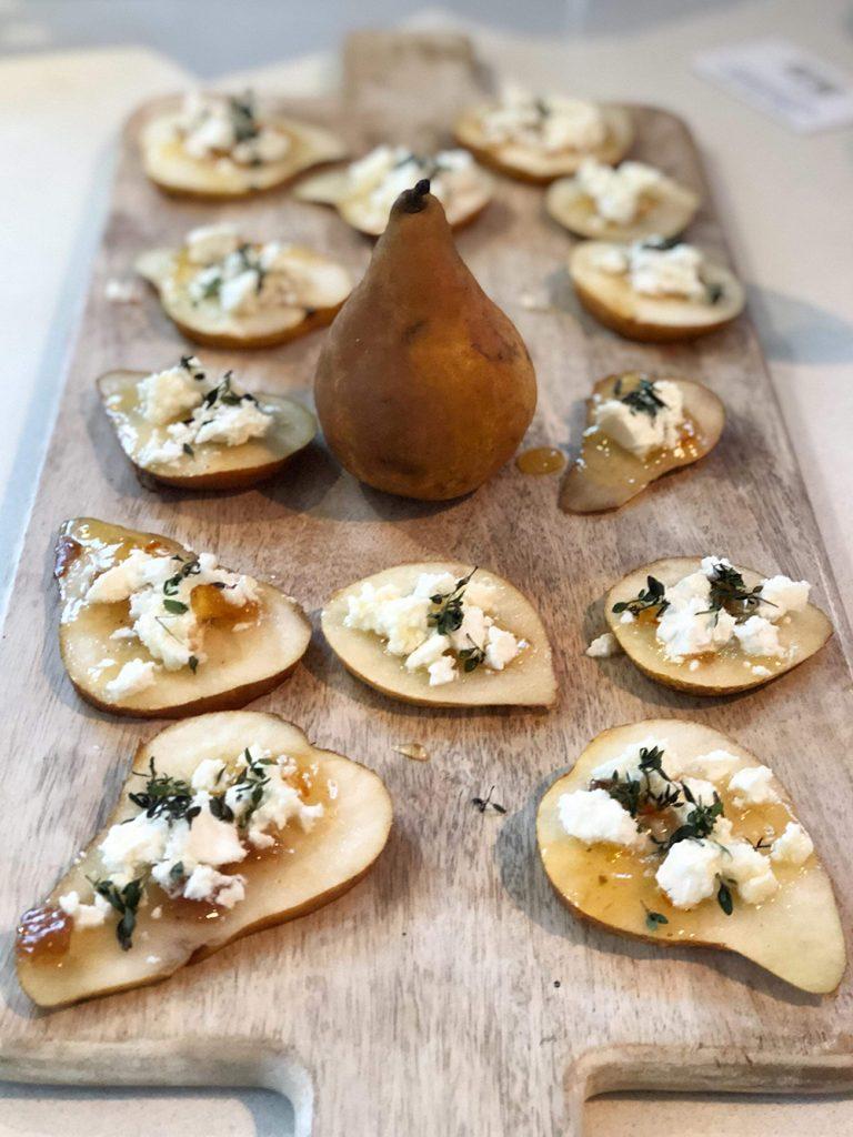 pears as crisp bases