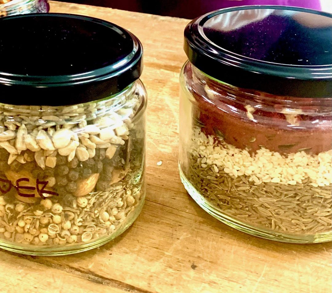 mixed spices and nuts